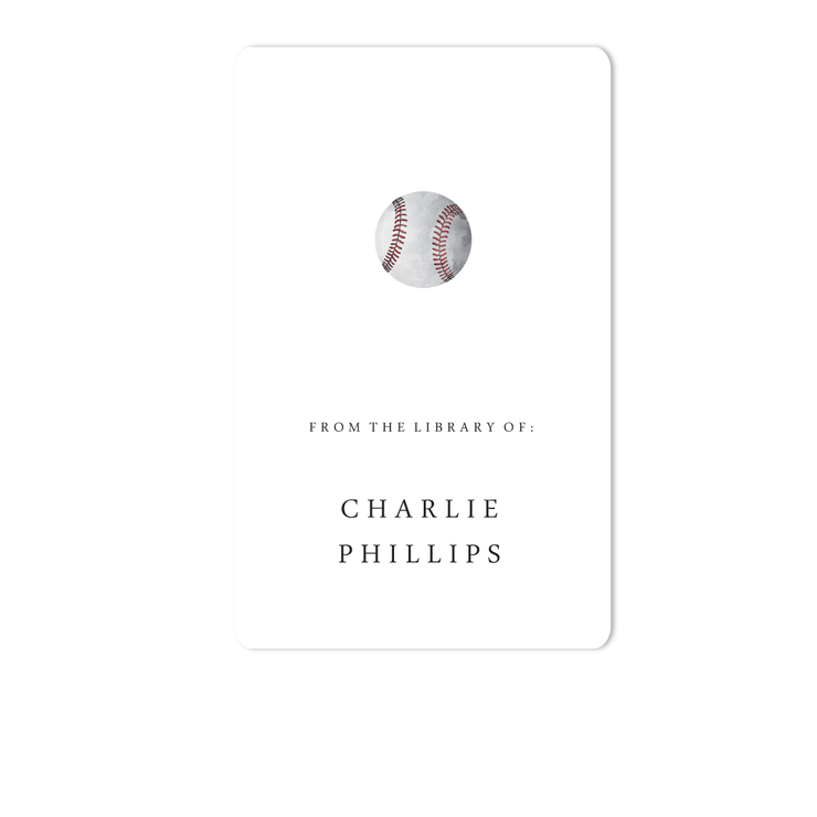 Baseball Bookplate