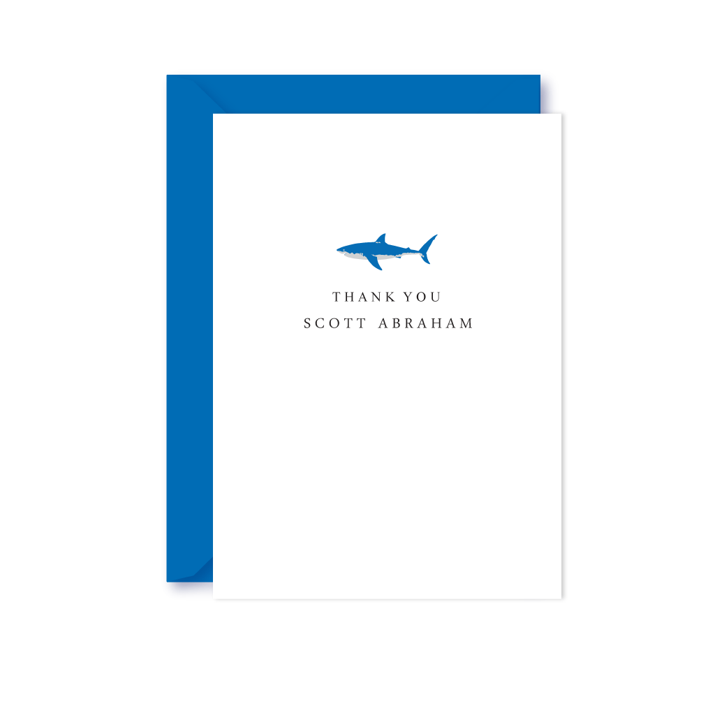GREAT WHITE SHARK THANK YOU NOTE