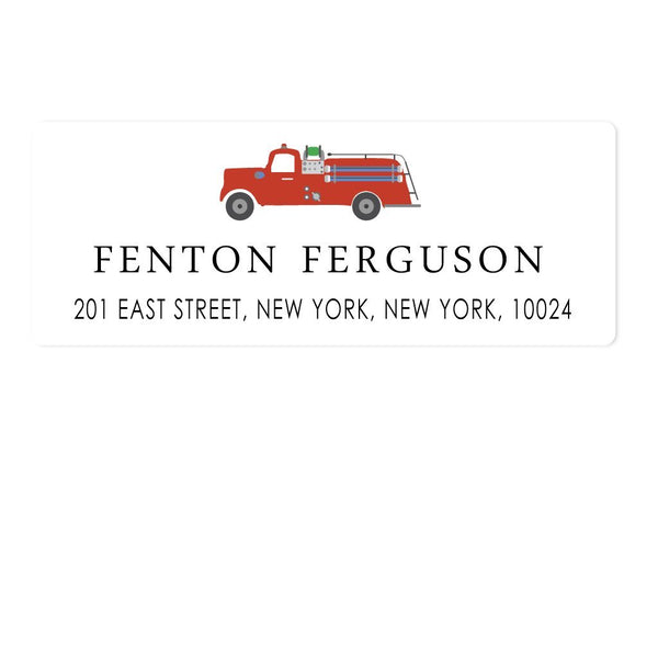 FIRETRUCK ADDRESS LABELS