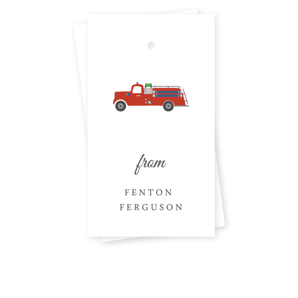 FIRETRUCK GIFT TAGS