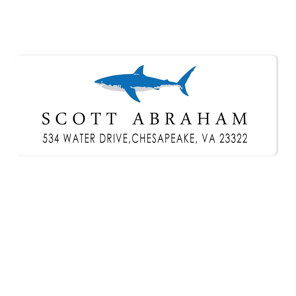 SHARK ADDRESS LABELS