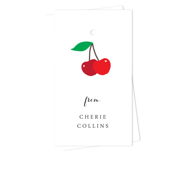 CHERRIES GIFT TAGS