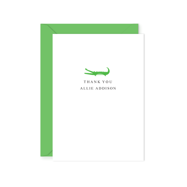 ALLIGATOR THANK YOU NOTE