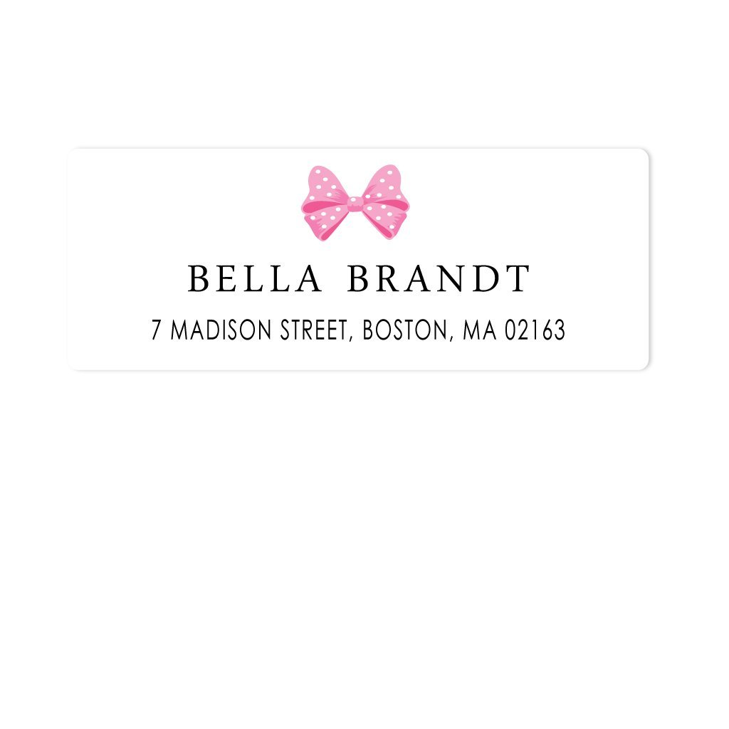 PERSONALIZED KIDS BOW ADDRESS LABELS