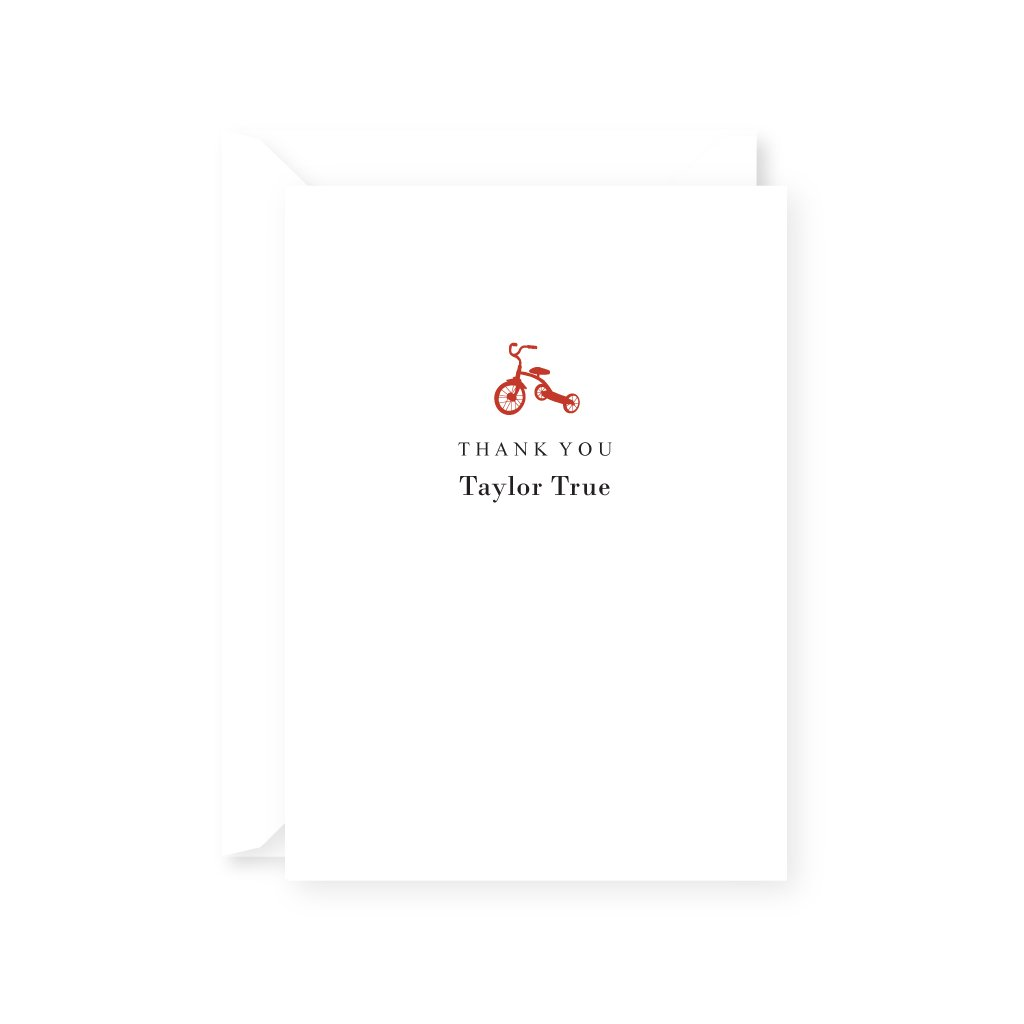 TRICYCLE THANK YOU NOTE
