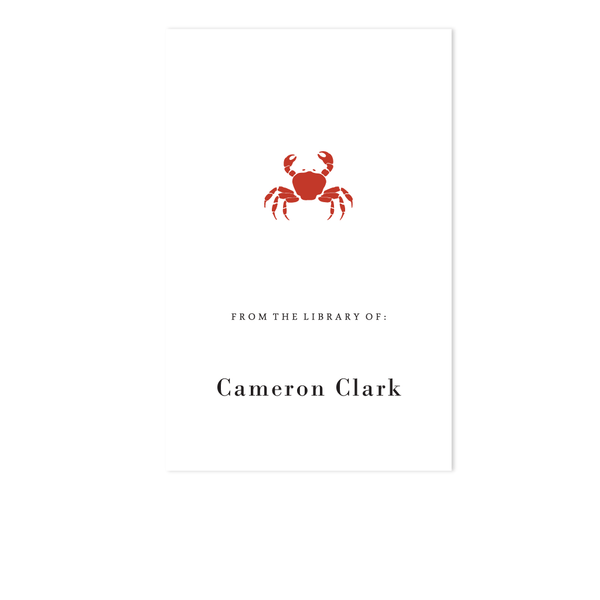 CRAB BOOKPLATE