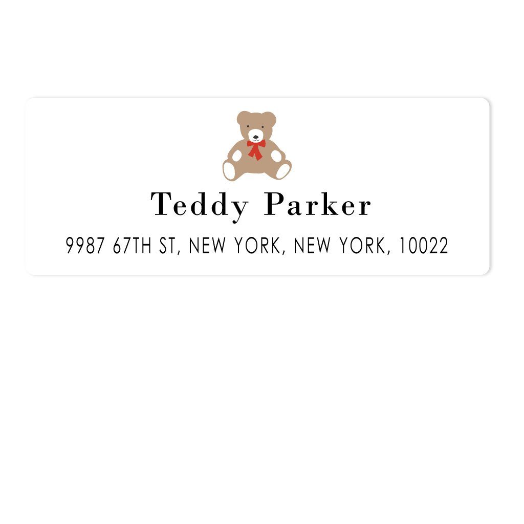 TEDDY BEAR ADDRESS LABELS