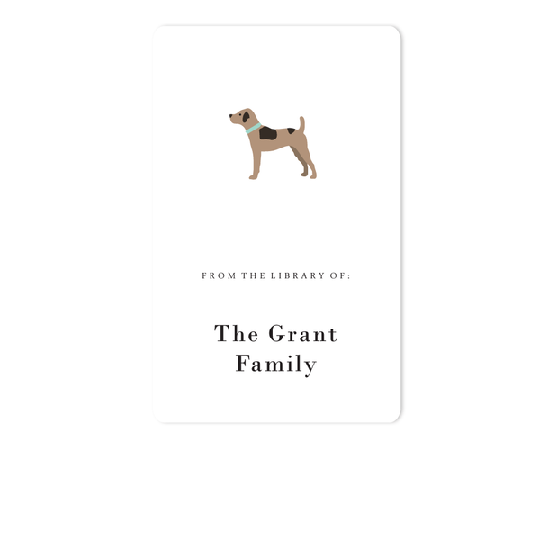 DOG BOOKPLATE