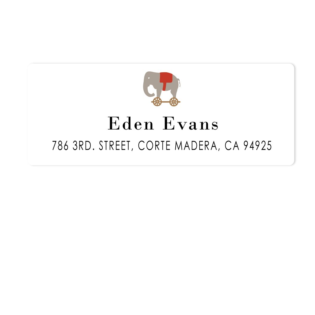 TOY ELEPHANT ADDRESS LABELS
