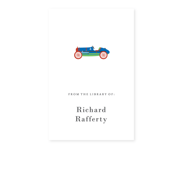 RACECAR BOOKPLATE