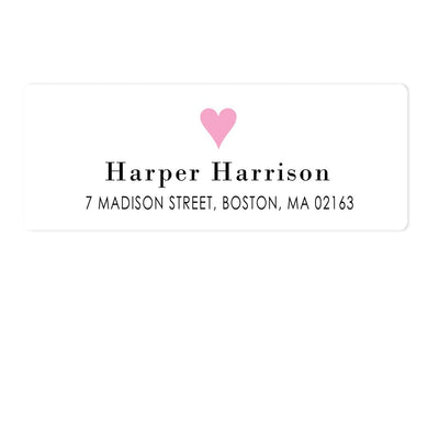 Heart Address Labels