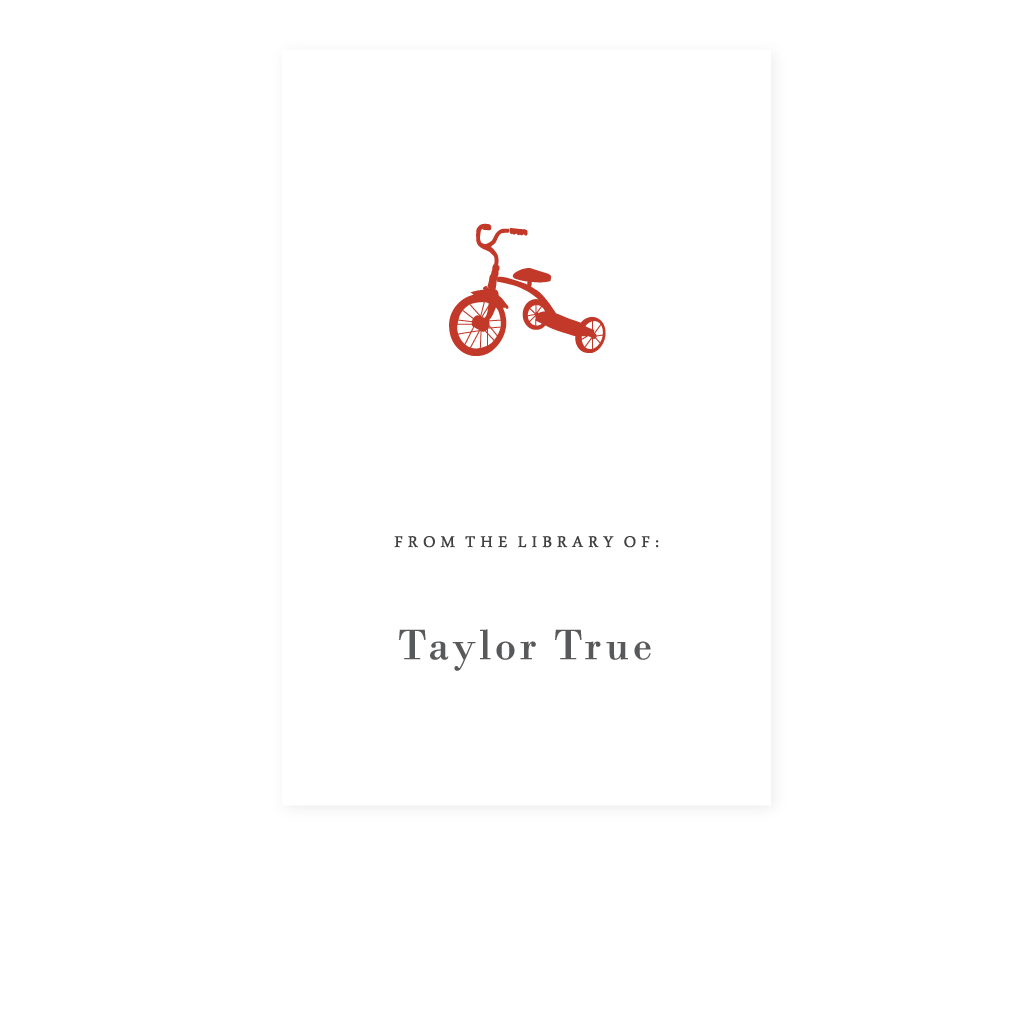 TRICYCLE BOOKPLATE