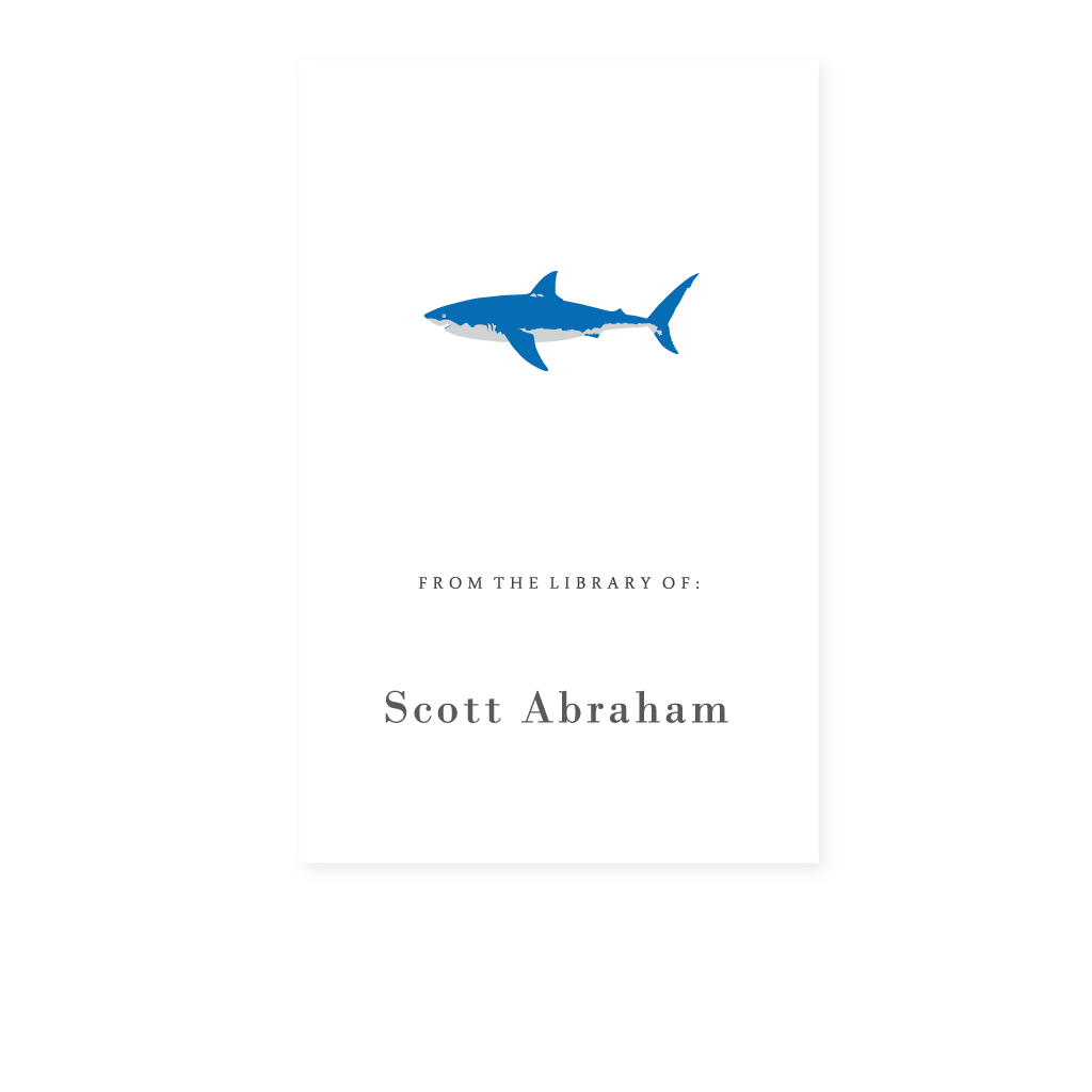 GREAT WHITE SHARK BOOKPLATE