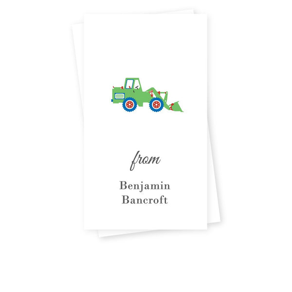 BULLDOZER GIFT TAGS