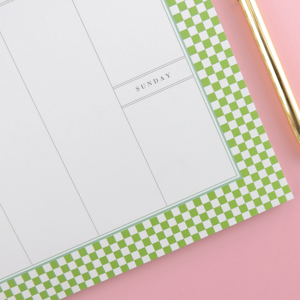 NOTEPAD, CHECKERS WEEKLY DESK PLANNER