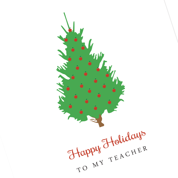 TEACHER HOLIDAY CARD