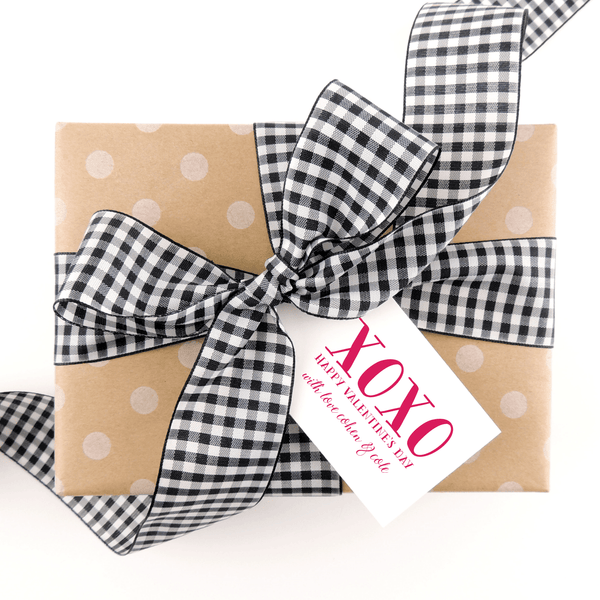 VALENTINE XOXO GIFT TAGS