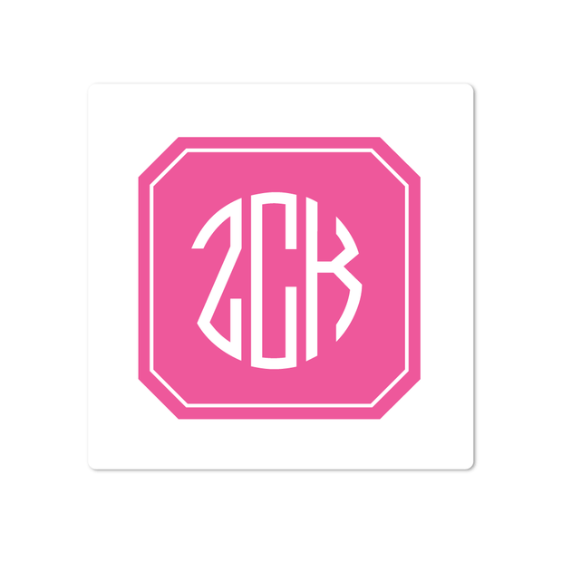 Filled Octagon Monogram Stickers