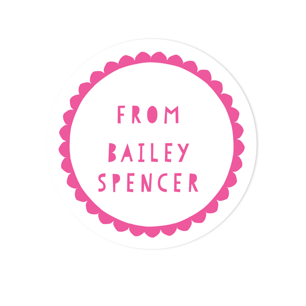 Scallop Border Stickers