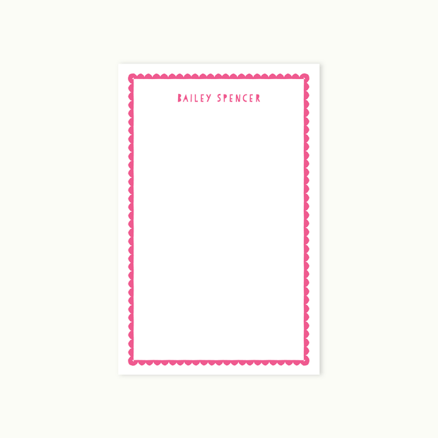 Scallop Notepad