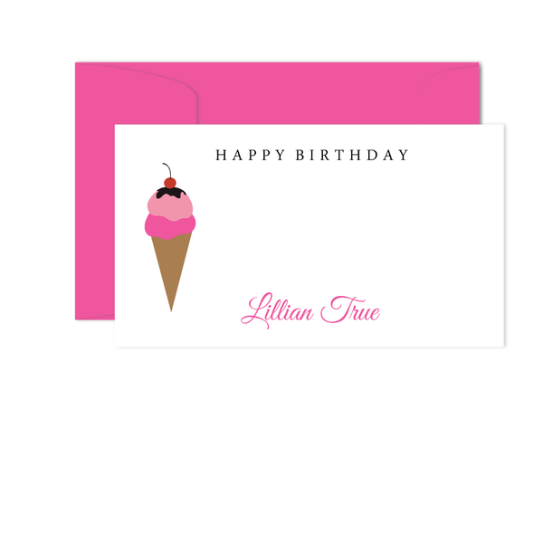 PINK ICE CREAM CONE GIFT ENCLOSURES