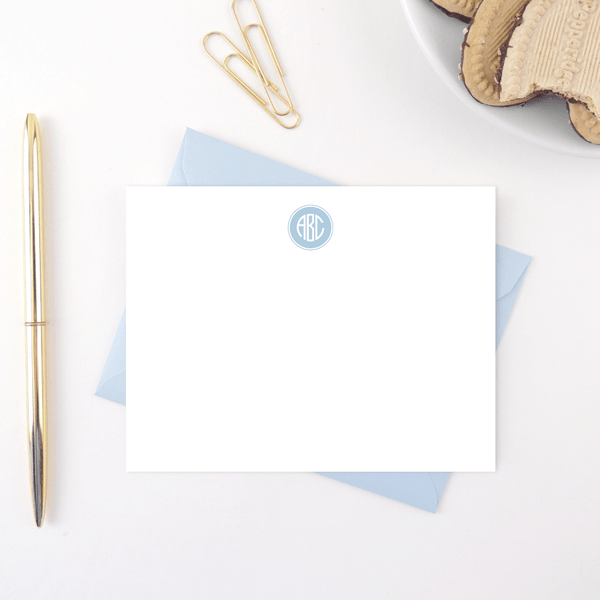 FILLED CIRCLE MONOGRAM STATIONERY