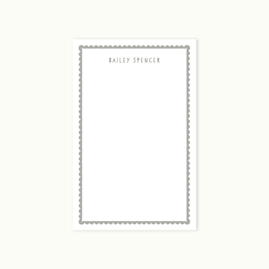 SCALLOP BORDER STATIONERY