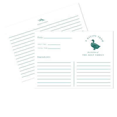 Duck Recipe Cards