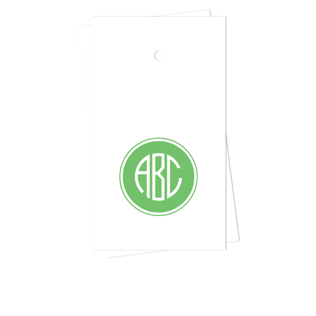 Filled Circle Monogram Gift Tags