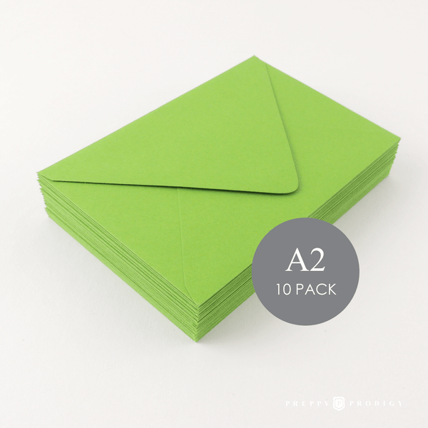 A2 GREEN ENVELOPES