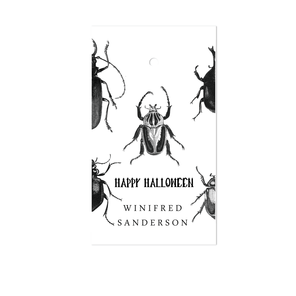 HALLOWEEN BEETLE GIFT TAGS