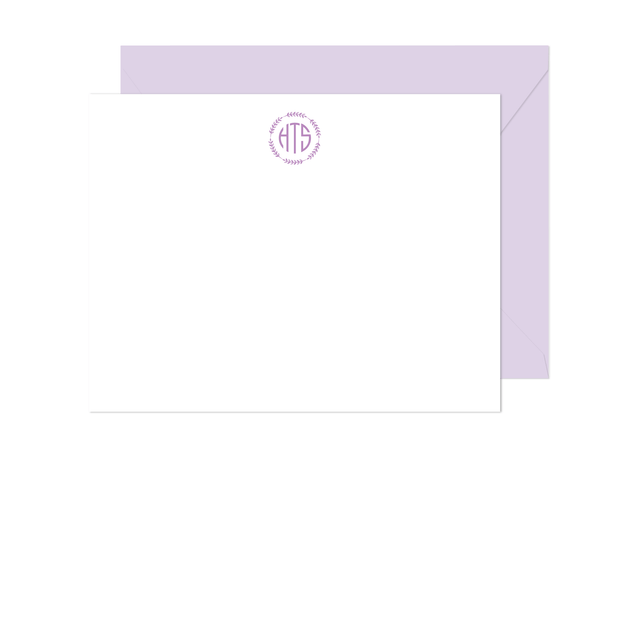 Wreath Monogram Stationery