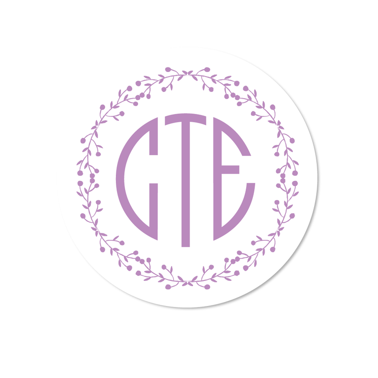 Berries Monogram Stickers