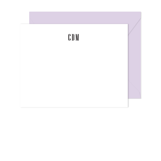 Classic Monogram Stationery