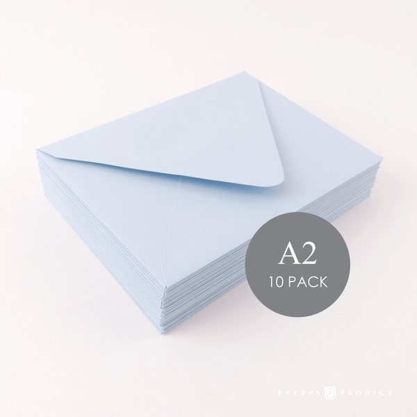 A2 LIGHT BLUE ENVELOPES