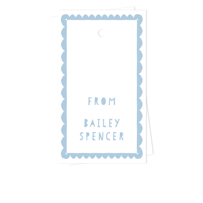 Scallop Border Gift Tags