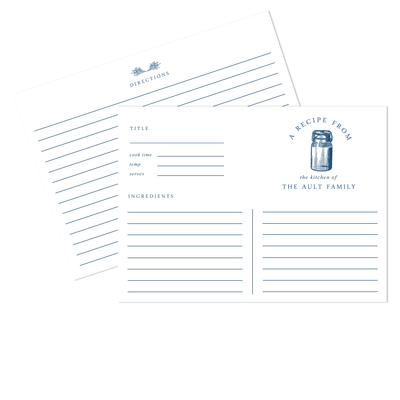 Classic Canning Recipe Cards
