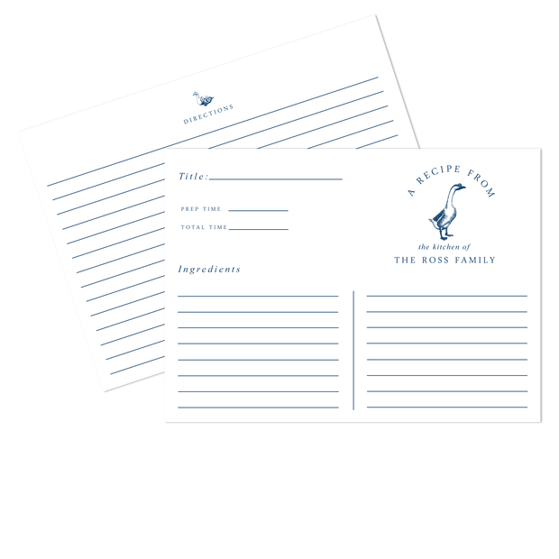 Goose Recipe Cards
