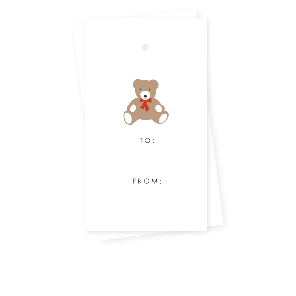 TEDDY BEAR GIFT TAGS