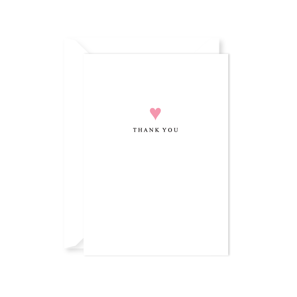 HEART THANK YOU NOTE