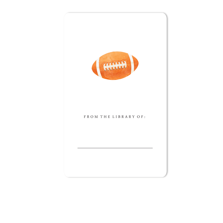 Football Bookplate