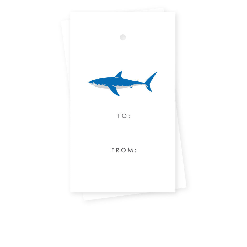 GREAT WHITE SHARK GIFT TAGS