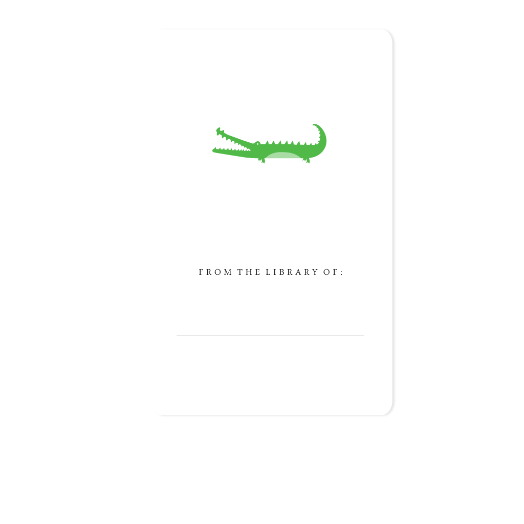 Alligator Bookplate