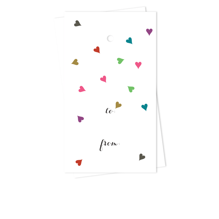 Floating Hearts Gift Tags