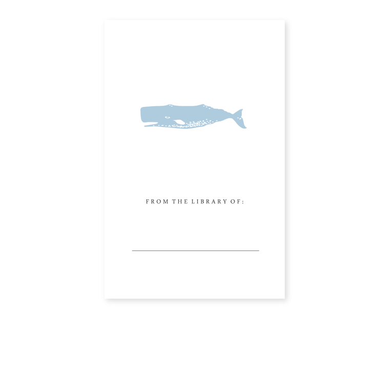 Whale Bookplates