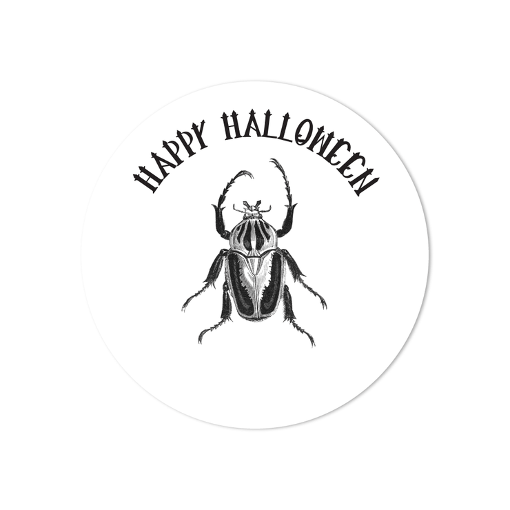 Halloween Beetle Stickers