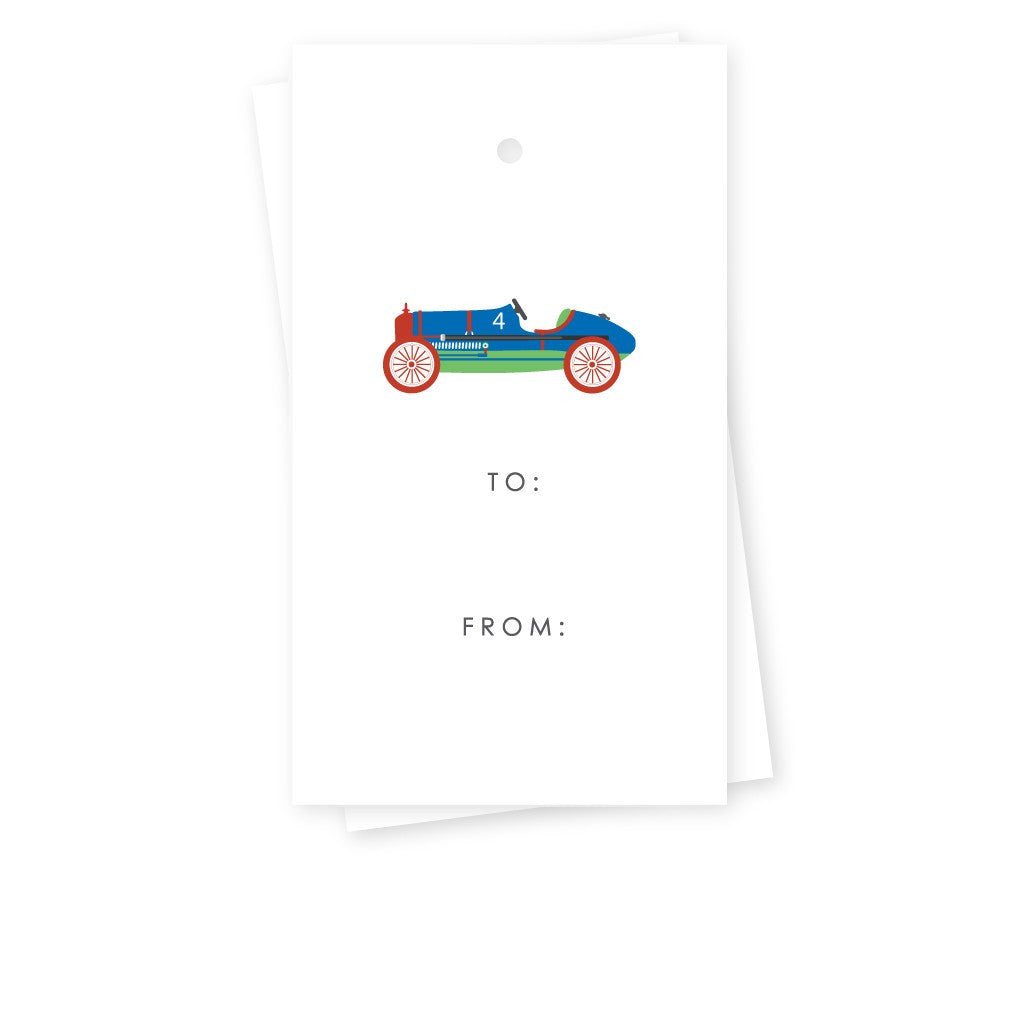 RACECAR GIFT TAGS