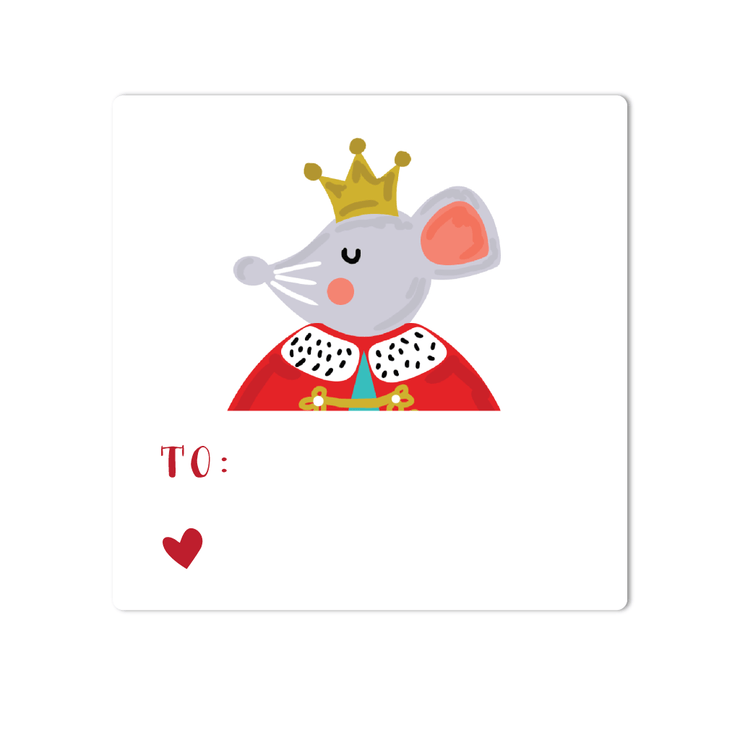 Nutcracker Mouse Holiday Labels