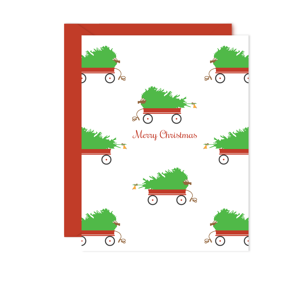 HOLIDAYS CHRISTMAS TREE GREETING CARD SET