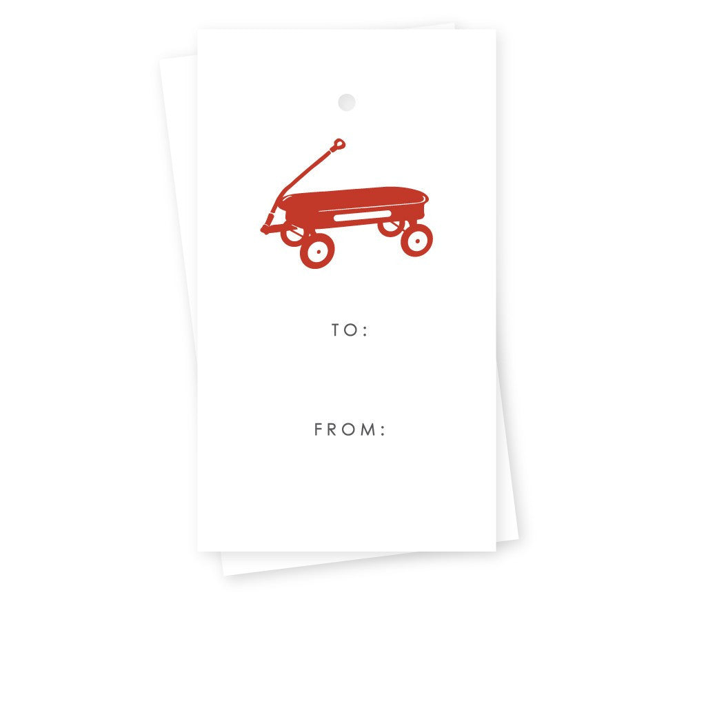 Red Wagon Gift Tags